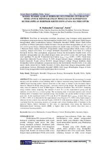 R. Rahmatiah 1, Gunawan 2, Sutrio 3