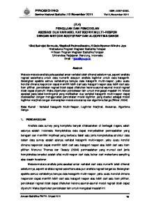 (R.4) PENGUJIAN DAN PEMODELAN ASOSIASI DUA VARIABEL KATEGORIK MULTI-RESPON DENGAN METODE BOOTSTRAP DAN ALGORITMA GANGE