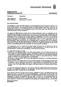 Raadsvoorstel 18 Vergadering 3 februari Gemeenteraad. Onderwerp : Cacaofabriek