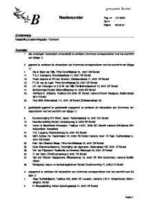 Raadsvoorstel Reg. nr : Ag nr. : Datum :