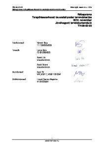 Rábapatona Településszerkezeti és szabályozási tervmódosítás november Jóváhagyott tervdokumentáció TH