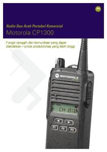 Radio Dua Arah Portabel Komersial. Motorola CP1300. Fungsi canggih dan komunikasi yang dapat diandalkan untuk produktivitas yang lebih tinggi