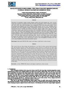 RANCANG BANGUN BODI MOBIL TIPE URBAN CONCEPT BERPENUMPANG TUNGGAL DENGAN KAPASITAS MAKSIMUM 70 KG