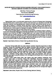 RANCANG BANGUN EXPERT SYSTEM DIAGNOSA PENYAKIT ANAK MENGGUNAKAN METODE FORWARD CHAINING DAN BACKWARD CHAINING