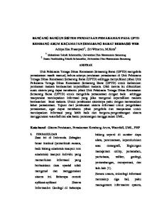 RANCANG BANGUN SISTEM PENDATAAN PEMAKAMAN PADA UPTD KEMBANG ARUM KECAMATAN SEMARANG BARAT BERBASIS WEB Aditya Eka Prasetyadi 1, Sri Winarno, M