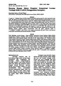Rancang Bangun Sistem Pengukur Konsentrasi Larutan Tembaga Sulfat (CuSO4) Menggunakan Komputer