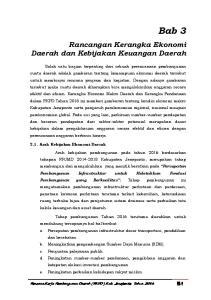 Rancangan Kerangka Ekonomi Daerah dan Kebijakan Keuangan Daerah