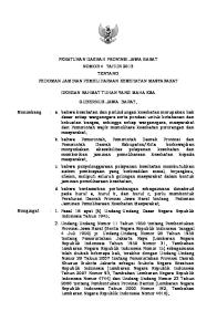 RANCANGAN PERATURAN DAERAH PROVINSI JAWA BARAT NOMOR 4 TAHUN 2013 TENTANG PEDOMAN JAMINAN PEMELIHARAAN KESEHATAN MASYARAKAT