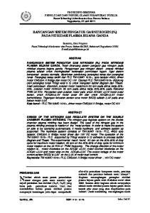 RANCANGAN SISTEM PENGATUR GAS NITROGEN (N 2 ) PADA NITRIDASI PLASMA BEJANA GANDA