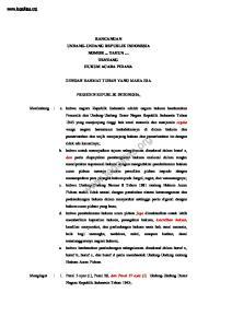 RANCANGAN UNDANG-UNDANG REPUBLIK INDONESIA NOMOR... TAHUN TENTANG HUKUM ACARA PIDANA DENGAN RAHMAT TUHAN YANG MAHA ESA PRESIDEN REPUBLIK INDONESIA,