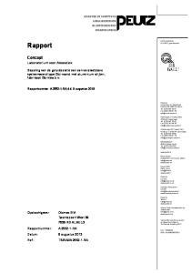 Rapport. Concept. Laboratorium voor Akoestiek