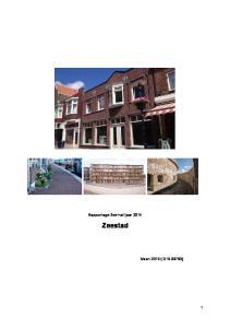 Rapportage 2de halfjaar 2014 Zeestad