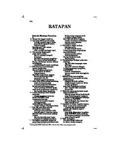 RATAPAN. x 8 Yerusalem sangat berdosa; j 9 Kenajisannya terdapat pada kain. y 10 Musuh telah merentangkan. k 11 Seluruh rakyatnya berkeluh kesah