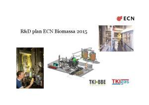 R&D plan ECN Biomassa 2015