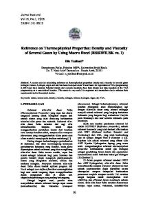 Reference on Thermophysical Properties: Density and Viscosity of Several Gases by Using Macro Excel (RSSDFIUSK vs. 1)