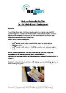 Referentiedossier ReTiBo De Lijn Fabricom - Fleetsupport