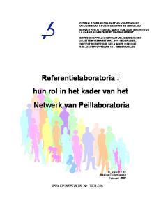 Referentielaboratoria : hun rol in het kader van het Netwerk van Peillaboratoria