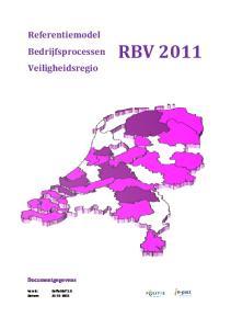Referentiemodel Bedrijfsprocessen Veiligheidsregio RBV Documentgegevens