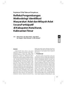 Refleksi Pengembangan Methodologi Identifikasi Masyarakat Adat dan Wilayah Adat Secara Partisipatif di Kabupaten Kutai Barat, Kalimantan Timur