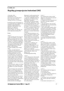 Regeling groenprojecten buitenland 2002