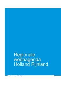 Regionale woonagenda Holland Rijnland