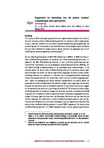 Registratie en besteding van de proces verbaalvergoedingen