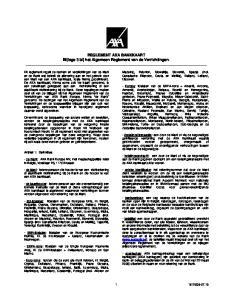 REGLEMENT AXA BANKKAART Bijlage 3 bij het Algemeen Reglement van de Verrichtingen
