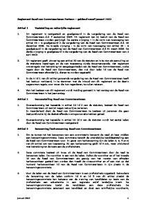 Reglement Raad van Commissarissen Parteon geldend vanaf januari 2012
