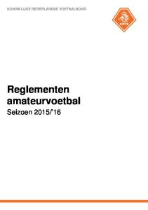 Reglementen amateurvoetbal