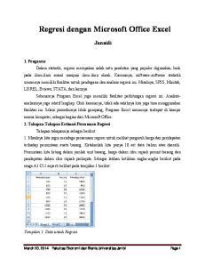 Regresi dengan Microsoft Office Excel