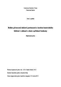 Režim přenesení daňové povinnosti a institut kontrolního hlášení v zákoně o dani z přidané hodnoty