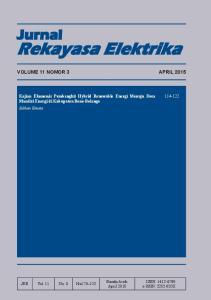 Rekayasa Elektrika. Jurnal VOLUME 11 NOMOR 3 APRIL