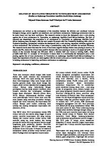 RELATION OF ROLE PLAYING THERAPEUTIC TO TEENAGER TRUST ADOLESCENCE (Studies on Orphanage Foundation Assolihin-Candi-Mulyo-Jombang)