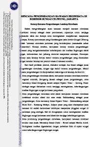 RENCANA PENGEMBANGAN KAWASAN EKOWISATA DI KORIDOR SUNGAI CILIWUNG, JAKARTA
