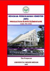 RENCANA PERKULIAHAN SEMESTER (RPS)