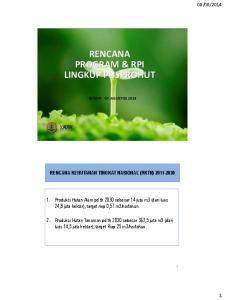 RENCANA PROGRAM & RPI LINGKUP PUSPROHUT