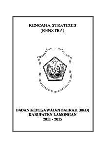 RENCANA STRATEGIS (RENSTRA)