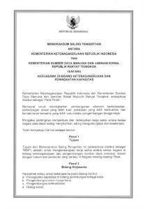 REPUBLIJ[ INDONESIA. Pasal 1 Tujuan