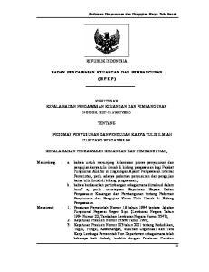 REPUBLIK INDONESIA BADAN PENGAWASAN KEUANGAN DAN PEMBANGUNAN ( B P K P )