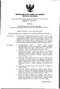 REPUBLIK INDONESIA PERATURAN MENTERI ENERGI DAN SUMBER DAYA MINERAL REPUBLIK INDONESIA NOMOR: 07 TAHUN 2012 TENTANG