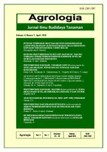 RESPONS PERTUMBUHAN VEGETATIF JAGUNG DI TAILING TAMBANG TIMAH TERKONTAMINASI KADMIUM SETELAH INOKULASI BAKTERI INDOGENUS Hindersah, R dan J