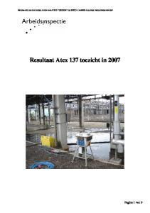 Resultaat Atex 137 toezicht in 2007
