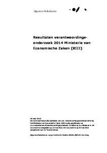 Resultaten verantwoordingsonderzoek. Economische Zaken (XIII)