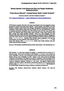 Retensi Optimal Untuk Reasuransi Stop-Loss Dengan Pendekatan Buhlmann-Straub Triana Sucova Sibarani 1*, Achmad Zanbar Soleh 2, Lienda Noviyanti 3