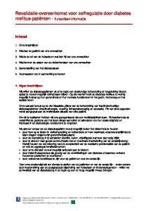 Revalidatie-overeenkomst voor zelfregulatie door diabetes mellitus-patiënten - huisartseninformatie