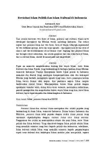 Revisitasi Islam Politik dan Islam Kultural di Indonesia
