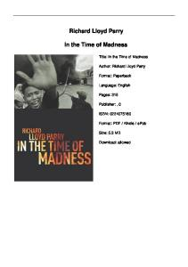 Richard Lloyd Parry. In the Time of Madness