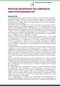 richtlijn Behandeling van chronische hepatitis-b-virusinfectie