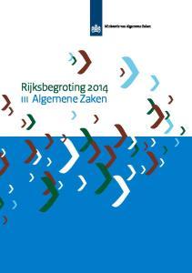 Rijksbegroting 2014 iii Algemene Zaken
