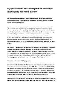 Rijksmuseum doet met Exchange Server 2007 eerste ervaringen op met mobiel platform